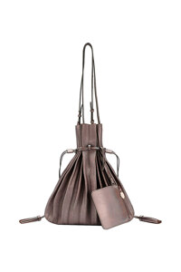 韩际新世界网上免税店-JOSEPH&STACEY-女士箱包-Lucky Pleats Shopper Cracked Brown 单肩包