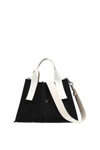신세계인터넷면세점-조셉앤스테이시-여성 가방-Lucky Pleats Canvas S Black_Ivory(+Webbing Strap)