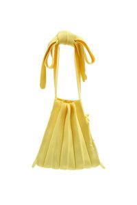 韩际新世界网上免税店-JOSEPH&STACEY-女士箱包-Lucky Pleats Knit S Half & Half Lemon 单肩包