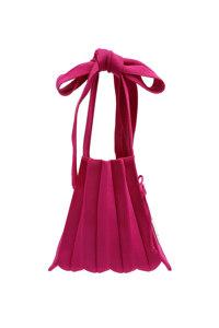 韩际新世界网上免税店-JOSEPH&STACEY-女士箱包-Lucky Pleats Knit S Half & Half Berry Mix 单肩包