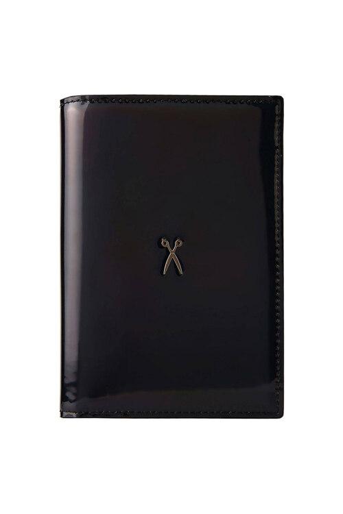 韩际新世界网上免税店-JOSEPH&STACEY-钱包-0JSI5WT40201F Easysafe Flap It! Passport Wallet MIRROR BLACK 护照夹