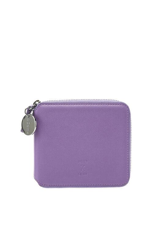 韩际新世界网上免税店-JOSEPH&STACEY-钱包-OZ Wallet Half Aster Purple 短款钱包