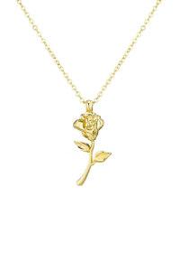 韩际新世界网上免税店-FLOWOOM-首饰-Rose Necklace (Gold) 项链