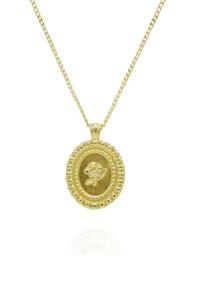 韩际新世界网上免税店-FLOWOOM-首饰-Rose Frame Necklace S (Gold) 项链
