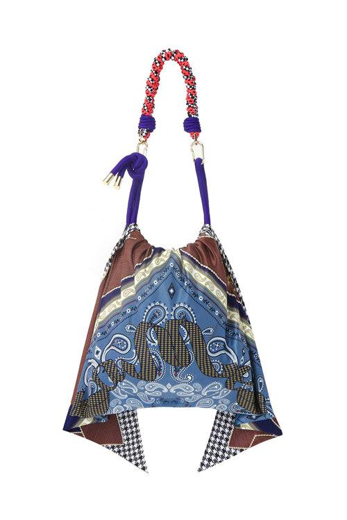 신세계인터넷면세점-노메터-여성 가방-scarfmatter bag-Navy Check (navy multi)