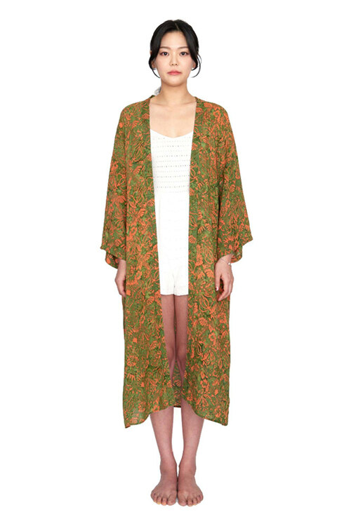 韩际新世界网上免税店-MATT AND MEL-服饰- [Maxi Robe] Vintage garden - Green 女士开衫