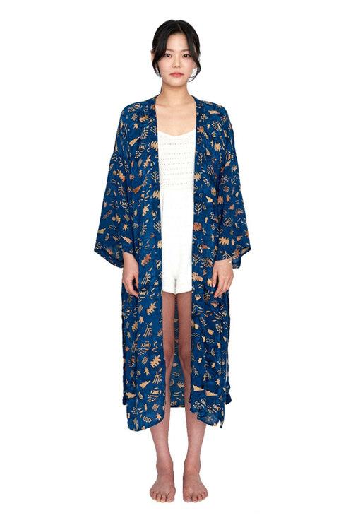 韩际新世界网上免税店-MATT AND MEL-服饰- [Maxi Robe] Sunset - Navy 女士开衫