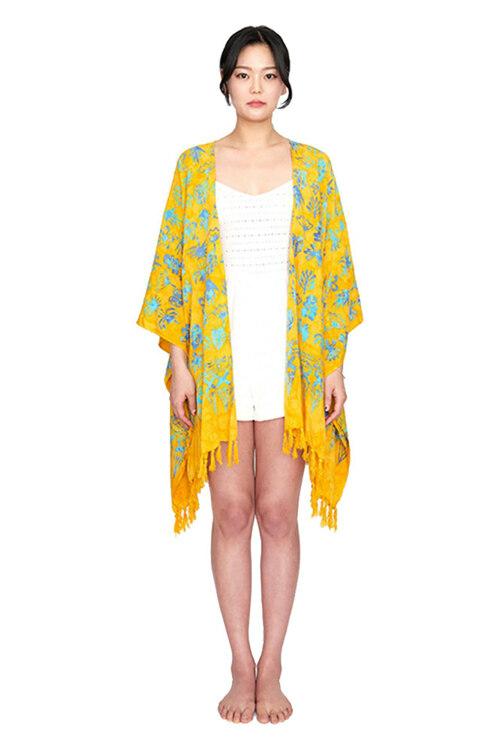 신세계인터넷면세점-멧앤멜--[Fringe Robe] Balibloom - Yellow