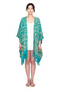 신세계인터넷면세점-멧앤멜--[Fringe Robe] Dahlia - Turquoise