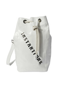 韩际新世界网上免税店-INSTANTFUNK-休闲箱包-Enamel bucket bag - White F