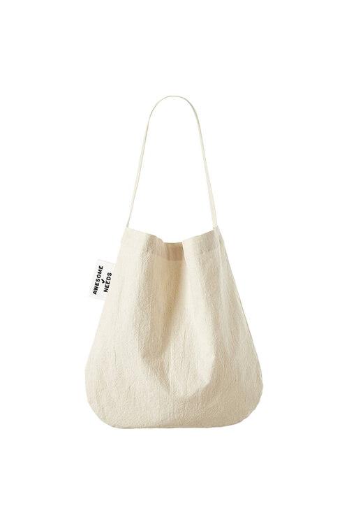 韩际新世界网上免税店-AWESOME NEEDS-女士箱包-SECOND ECO BAG NATURAL 单肩包