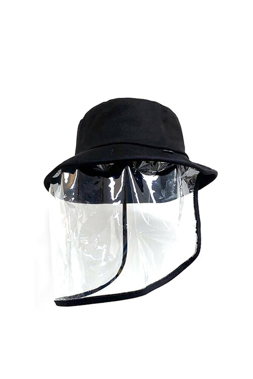 韩际新世界网上免税店-DONTFORGETME-时尚配饰-DFM PROTECTIVE BLACK BUCKET-HAT(코로나 방역모자)