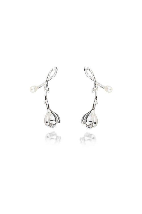 신세계인터넷면세점-피오레--camellia mini drop earring (silver)