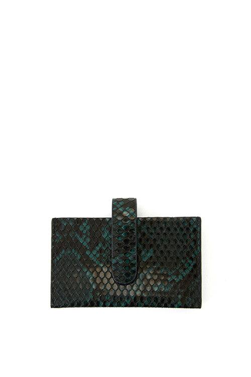 韩际新世界网上免税店-CHRISTINE PROJECT-钱包-ACCORDION CARD WALLET (DEEP GREEN) 卡包