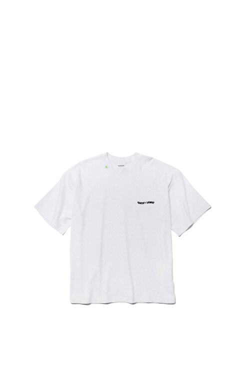 韩际新世界网上免税店-VERSEONE-服饰-PLUMERIA LOGO PRINTED T-SHIRT WHITE T恤