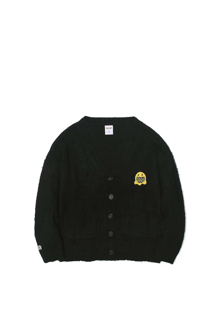 GHOST PATCHED MOHAIR CARDIGAN BLACK M