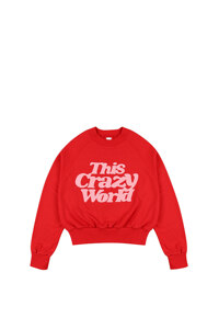 韩际新世界网上免税店-WONDER VISITOR-服饰-TCW crop sweatshirt [Red] 上衣
