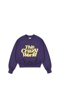 韩际新世界网上免税店-WONDER VISITOR-服饰-TCW crop sweatshirt [Purple] 上衣