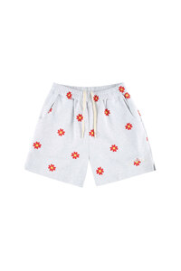 신세계인터넷면세점-원더비지터--Red flower pattern Shorts  [Light grey]