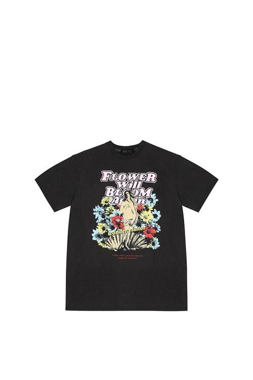 신세계인터넷면세점-원더비지터--Venus pigment O/P T shirts [Charcoal grey]