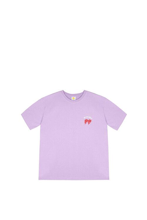 韩际新世界网上免税店-WONDER VISITOR-服饰-2021 Signature T shirts [Lilac] L T恤