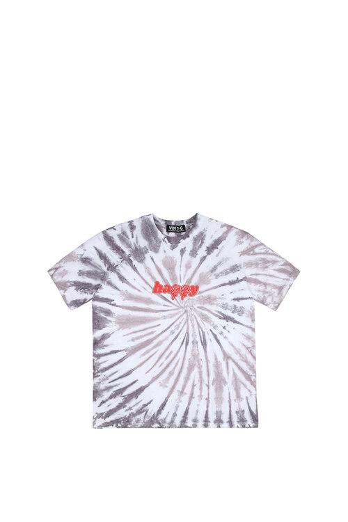 韩际新世界网上免税店-WONDER VISITOR-服饰-2021 Signature tied-dying T shirts [Black] M T恤