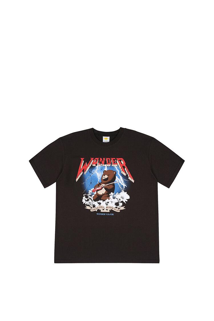 Rocking bear T shirts [Charcoal grey] L T恤