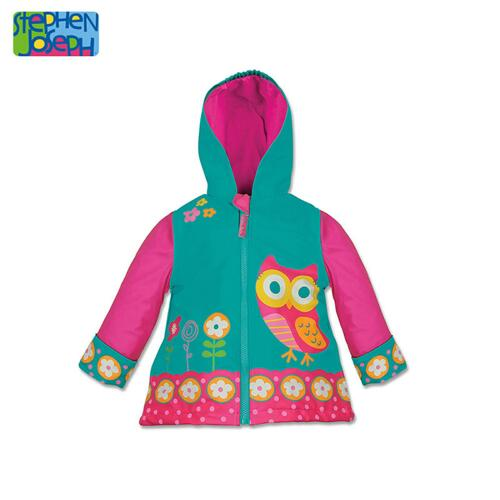 SJ RAINCOAT  OWL 4T (S14) 儿童雨衣