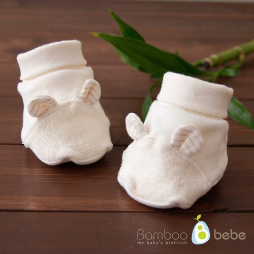 韩际新世界网上免税店-BAMBOO BEBE--NATURAL BAMBOO CREAM FOOT COVER 婴儿护脚套