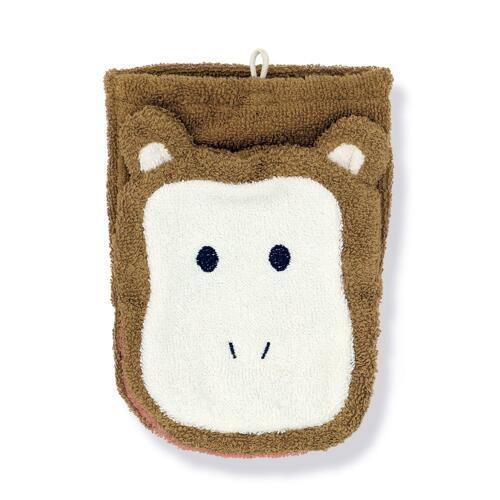 신세계인터넷면세점-스위마바-BABY ETC-스위마바 휼니스 오가닉코튼 아기 목욕장갑 원숭이L