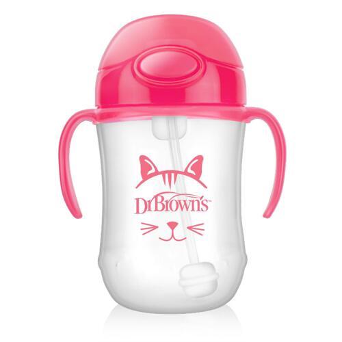 신세계인터넷면세점-닥터브라운-BABY FEEDING-추추빨대컵 핑크