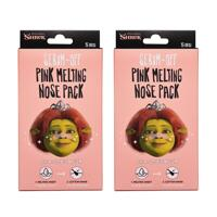 韩际新世界网上免税店-DREAMWORKS--FIONA SEBUM-OFF PINK MELTING NOSE PACK 鼻贴5片 * 2