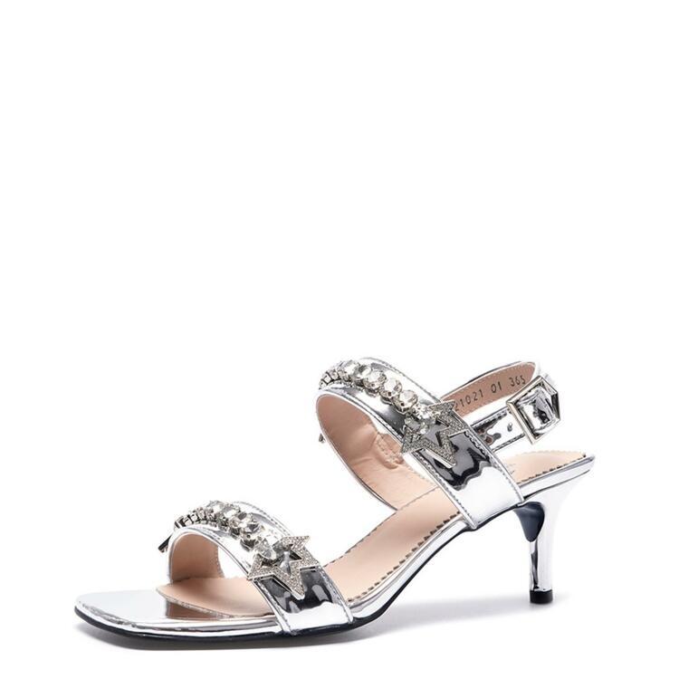 韩际新世界网上免税店-suecommabonnie-鞋-DG2AM21021SVX 360 (230)