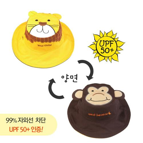 신세계인터넷면세점-플랩잭-BABY ETC-자외선차단 유아양면모자 원숭이&사자