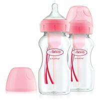 신세계인터넷면세점-닥터브라운-BABY FEEDING-와이드넥 옵션스 플러스 PP젖병 핑크 270ML 2P