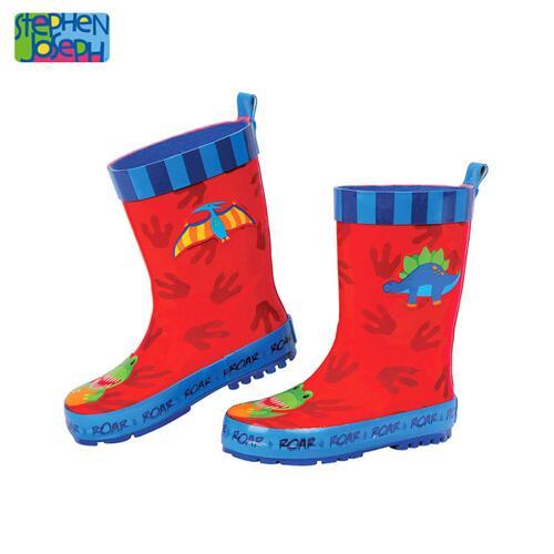 SJ RAINBOOTS DINO SZ 12 (S17) 儿童雨靴