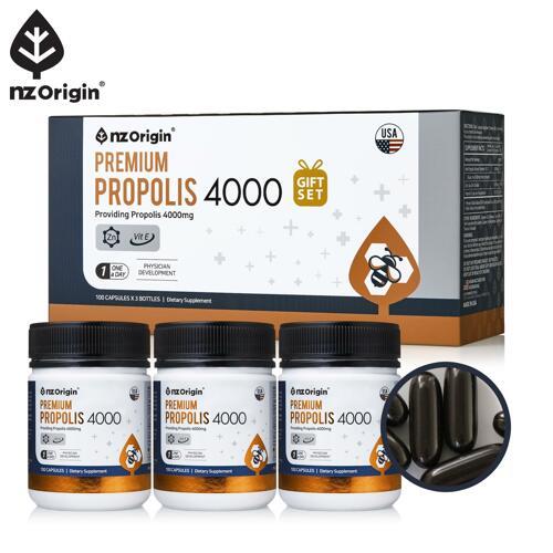 신세계인터넷면세점-엔젯오리진-Propolis-[유통기한:2022-08-01]프리미엄 프로폴리스4000 세트(100캡슐X3)/10개월분