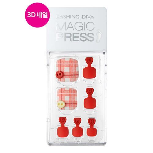 韩际新世界网上免税店-DASHING DIVA--MAGIC PRESS PEDICURE - TENDER RED 脚指甲贴