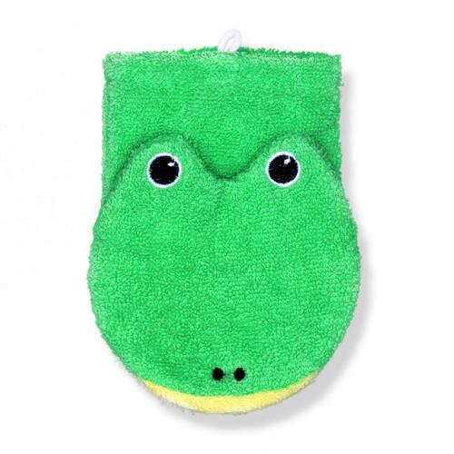 韩际新世界网上免税店-SWIMAVA--Organic cotton washcloth Frog Large 婴儿沐浴手套