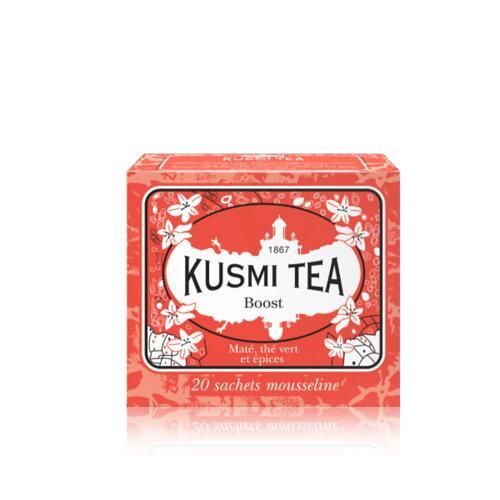 韩际新世界网上免税店-KUSMI TEA-TEA-BOOST - BOX OF 20 MUSLIN TEA BAGS - 44g 茶