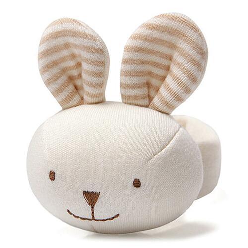 신세계인터넷면세점-밍크엘레팡-BABY ETC-토끼오가닉손목딸랑이브라운