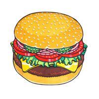 韩际新世界网上免税店-BIG MOUTH-运动休闲-gigantic burger beach blanket 沙滩毯