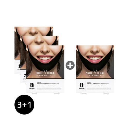 신세계인터넷면세점-에이바자르-Face Masks & Treatments-퍼펙트 V리프팅 프리미엄 우먼블랙 마스크 3+1