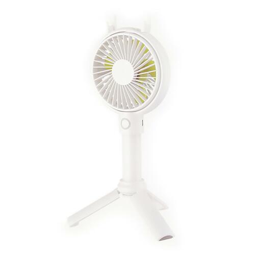 (선풍기) 디자인스킨 삼각대 핸디 선풍기-화이트
