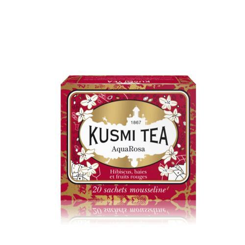 韩际新世界网上免税店-KUSMI TEA-TEA-AQUAROSA - BOX OF 20 MUSLIN TEA BAGS - 44g 茶