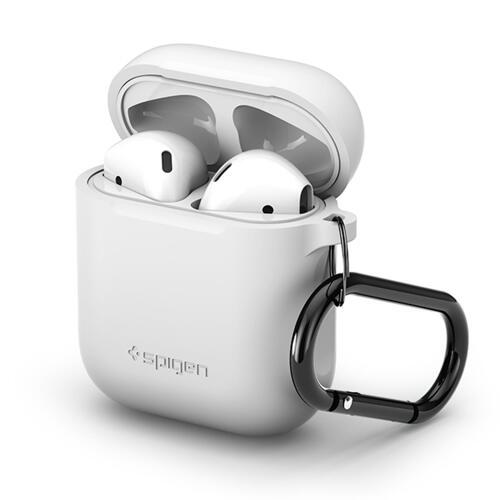 韩际新世界网上免税店-SPIGEN-SMART DEVICE ACC-Airpods 钥匙扣硅胶盒 白色