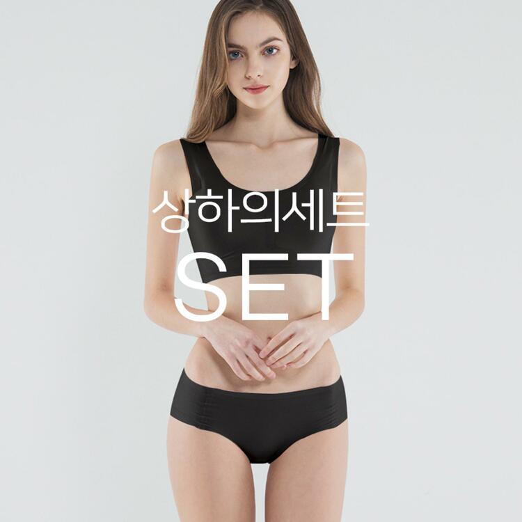 韩际新世界网上免税店-SKULLPIG-运动休闲-无缝制 AIRY 上下套装_Black_S