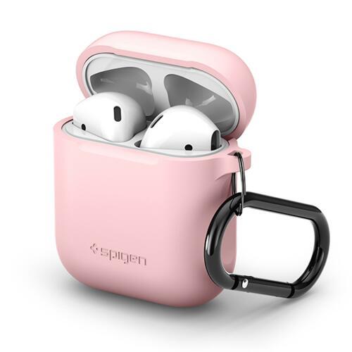 韩际新世界网上免税店-SPIGEN-SMART DEVICE ACC-Airpods 钥匙圈扣硅胶盒 粉色