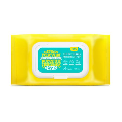 신세계인터넷면세점-아리얼-Cleansers-스트레스 릴리빙 퓨어풀 클렌징 티슈 플러스 (100매)