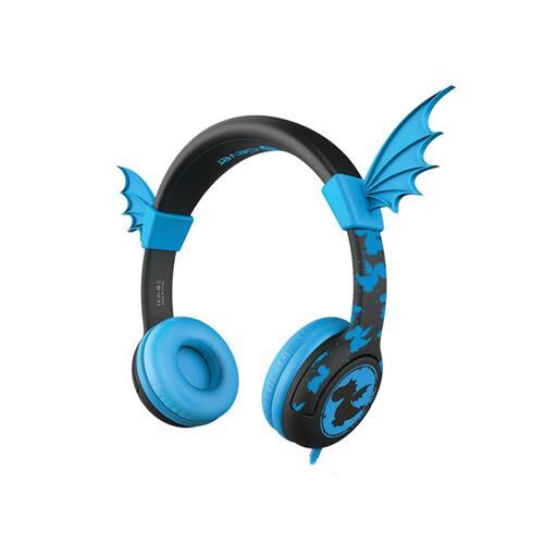 韩际新世界网上免税店-ICLEVER-EARPHONE_HEADPHONE-ICLEVER KIDS UNIQUE DESIGN HEADPHONE DRAGON BLUE 儿童耳麦